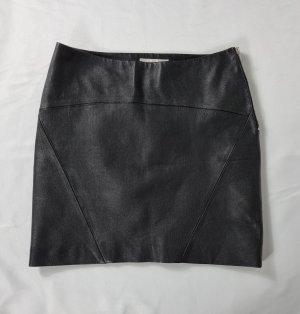 Saint Laurent Jupe en cuir noir cuir
