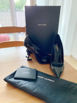 Saint Laurent Opyum High Heels Gr.38 schwarz Neu
