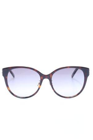 Saint Laurent Gafas de sol ovaladas negro-marrón estampado de animales
