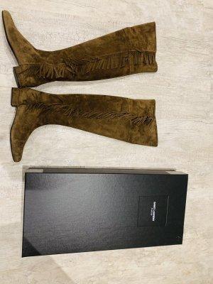 Yves Saint Laurent Stivale cuissard marrone-grigio