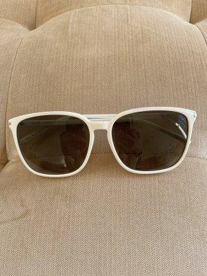 Saint Laurent Kwadratowe okulary przeciwsłoneczne biały