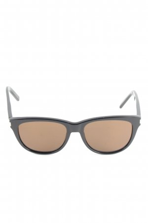 Saint Laurent Retro Brille schwarz-braun Business-Look