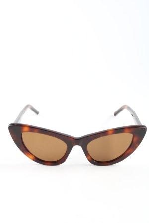 Saint Laurent Lunettes retro brun-orange clair imprimé allover