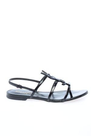 "Saint Laurent Riemchen-Sandalen ""Cassandra Open Sandals"" schwarz"