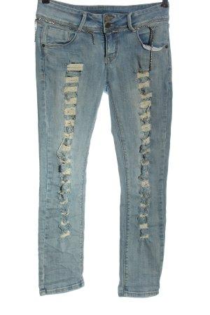 Saint Laurent Tube Jeans blue casual look