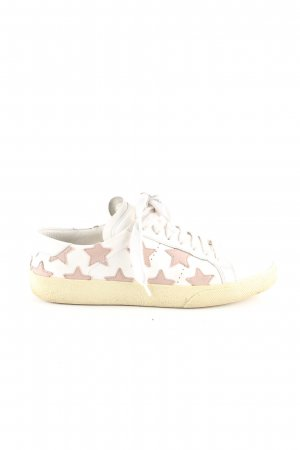 Saint Laurent Lace-Up Sneaker white-nude allover print casual look