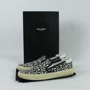 Saint Laurent Schuhe Gr. 38 schwarz weiß