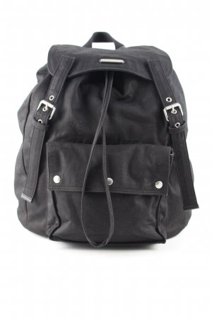 Saint Laurent Mochila escolar negro look casual