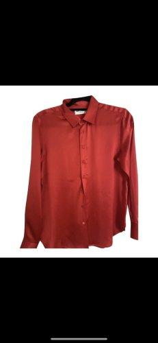 Saint Laurent Silk Blouse red