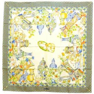Saint Laurent Gebreide sjaal wit Zijde