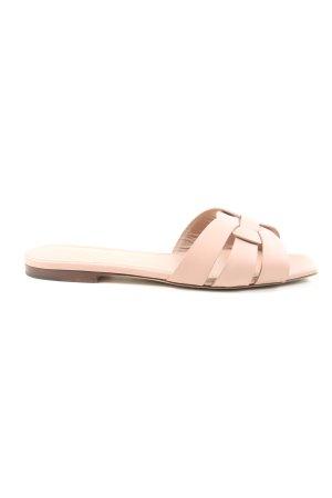 """Saint Laurent Slippers """"Tribute Sandals"""" cream"""
