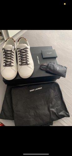 Saint Laurent Lace Shoes white-brown