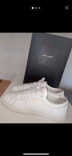 Saint Laurent Lace-Up Sneaker white