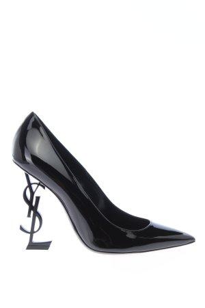 """Saint Laurent Pointed Toe Pumps """"Opyum Logo Pumps"""" black"""