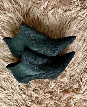 Saint Laurent Heel Boots black-silver-colored