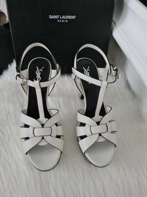 Saint Laurent Tribute Sandals Blanco