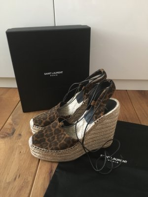 Saint Laurent - Wedges mit Leopardenprint