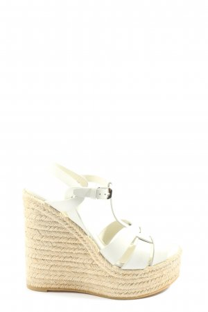 Saint Laurent Wedge Sandals white casual look