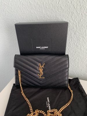 Yves Saint Laurent Borsa clutch nero-oro