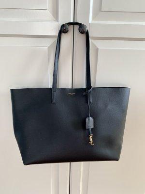 Saint Laurent Shopper black-dark yellow leather