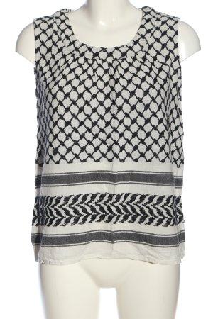Saint Tropez ärmellose Bluse weiß-schwarz Mustermix Casual-Look