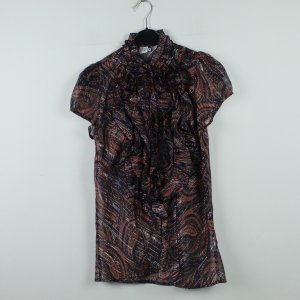 SAINT TROPEZ Bluse Gr. M rosa schwarz gemustert (20/01/045)
