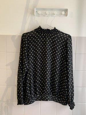 Saint Tropez Blouse transparente noir-doré polyester