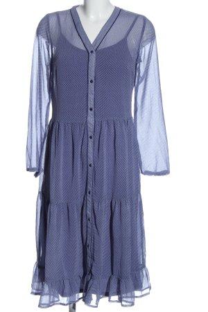 Saint Tropez Chiffonkleid blau Allover-Druck Casual-Look