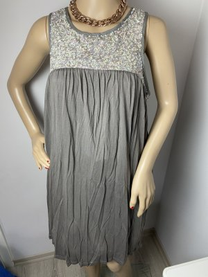 Saint Tropez Vestido de noche gris tejido mezclado