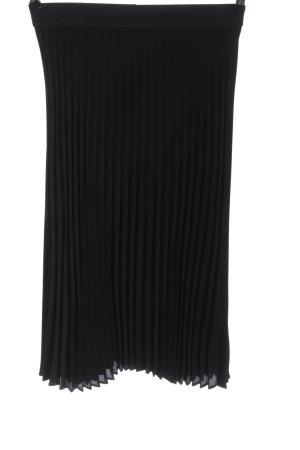 Saint Tropez Jupe à plis noir motif rayé style décontracté