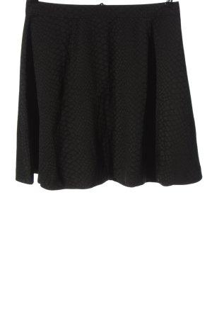 Saint Tropez Jupe évasée noir motif animal style décontracté