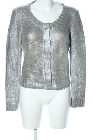 Saint Tropez Gehaakte cardigan zilver volledige print elegant