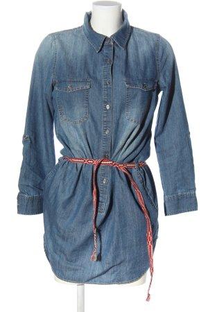 Saint Tropez Blouse en jean bleu style décontracté