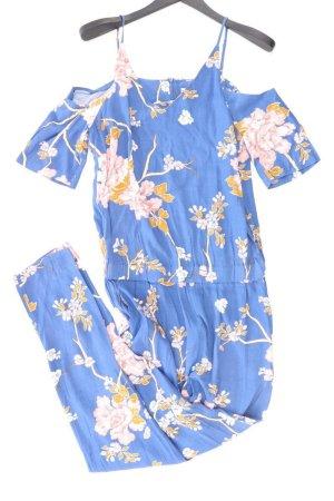 Saint Tropez Jumpsuit blau Blumenmuster Größe M