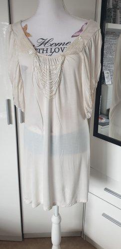 Saint Tropez Vestido de manga corta blanco puro-crema