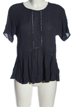 Saint Tropez Kurzarm-Bluse blau Casual-Look