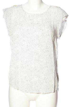 Saint Tropez Kurzarm-Bluse weiß-schwarz Casual-Look