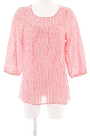 Saint Tropez Langarm-Bluse rot-weiß Streifenmuster Casual-Look