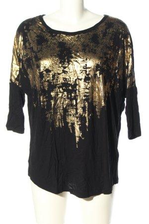 Saint Tropez Langarm-Bluse schwarz-goldfarben Casual-Look