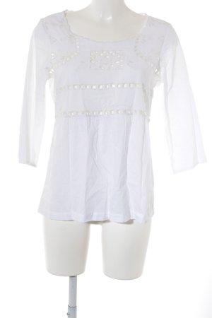 Saint Tropez Langarm-Bluse weiß Casual-Look