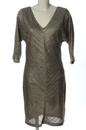 Saint Tropez Robe à manches longues argenté motif rayé élégant