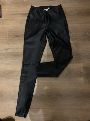 Saint Tropez Lederhose schwarz M 38 Röhre Lederlook
