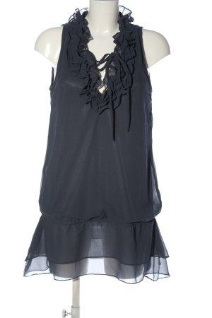Saint Tropez Long-Bluse schwarz extravaganter Stil