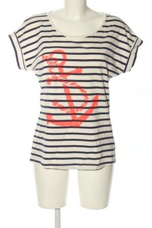 Saint Tropez Camisa de rayas estampado temático look casual