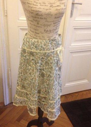 Saint Tropez Flared Skirt oatmeal-light grey acetate