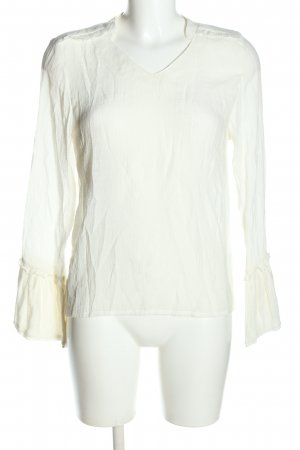 Saint Tropez Ruche blouse wit casual uitstraling