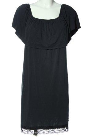 Saint Tropez schulterfreies Kleid blau Casual-Look