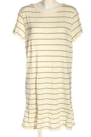 Saint Tropez Robe t-shirt crème motif rayé style décontracté