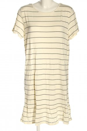 Saint Tropez Shirtkleid creme Streifenmuster Casual-Look