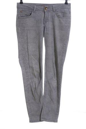 Saint Tropez Slim Jeans hellgrau Animalmuster Casual-Look